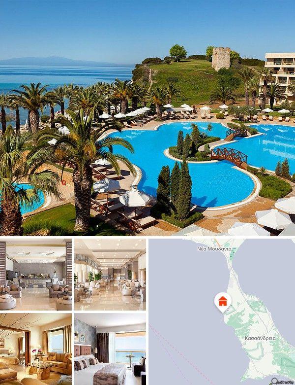 Questo hotel è ubicato sulla penisola di Cassandra, la più occidentale delle '3 dita' che formano la Penisola Calcidica. La stazione ferroviaria di Salonicco si trova a 70 minuti d'auto, l'aeroporto di Salonicco a 45 minuti.