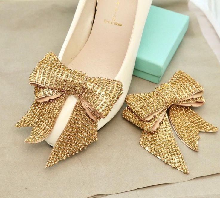 384 best shoe clips images on pinterest gold rhinestone crystals wedding bow shoe decoration clips bridal jewelry pair junglespirit Choice Image