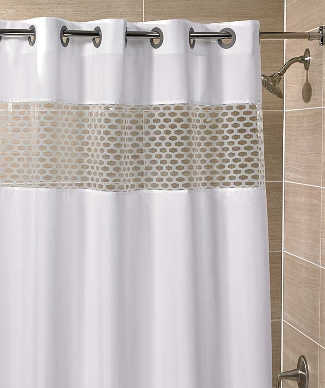 Bathroom Renovation With Hookless Shower Curtain