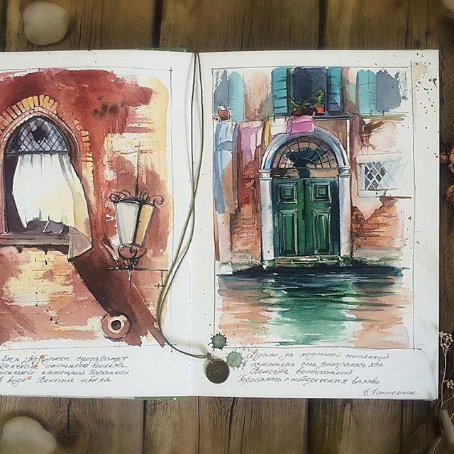 Начала новый скетчбук от @tsusketch и он будет посвящён моей мечте💙💙💙 моей Италии 💙💙 Первые зарисовки про Венецию, про волшебную сказку 🔹Я был разбужен спозаранку 🔹Щелчком оконного стекла. 🔹Размокшей каменной баранкой 🔹В воде Венеция плыла. (Б. Пастернак) #виноградовакатерина #акварель #работаакварелью #творчество #акварельмоялюбовь #пейзажкварелью #живопись #краснодар #иллюстрация #watercolor #inspiring_watercolors #одинденьсхудожником #illustration #waterblog #art #artwork #art…