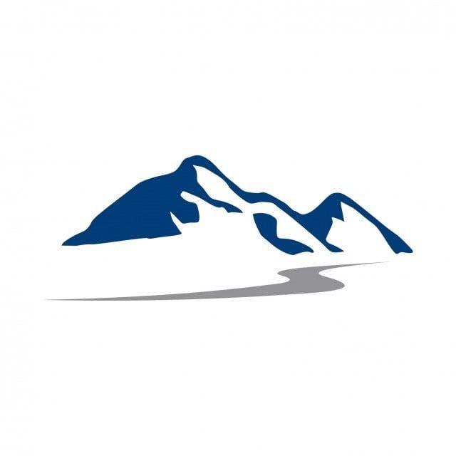 Blue Mountain Logo Vector And Png Mountain Logos Nature Logo Design Mountain Images