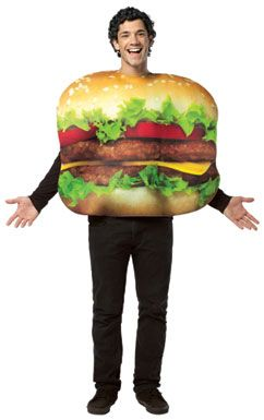 Cheeseburger Halloween Costume    Hamburger Costume #hamburgercostume #burger #hamburger #costume #foodcostumes #funnycostumes #costumekingdom