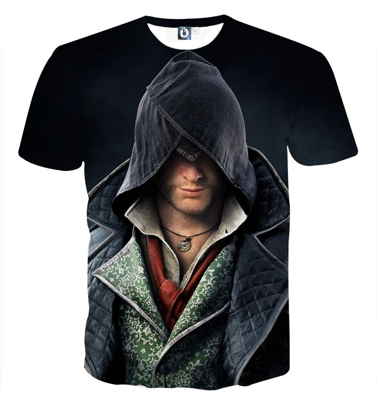Assassin's Creed Cool Jacob Frye Portrait Full Print T-shirt    #Assassin'sCreed #Cool #JacobFrye #Portrait #FullPrint #T-shirt