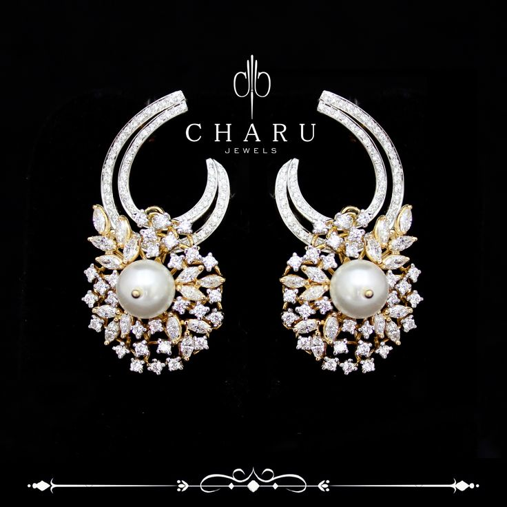 #Fusion #jewelery with #pearl and #real #Diamonds Indian #traditional #jewellery