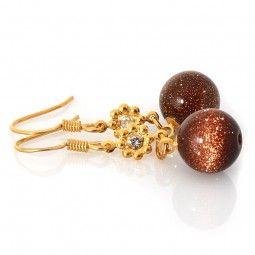 Ohrringe mit Goldfluss Gold
