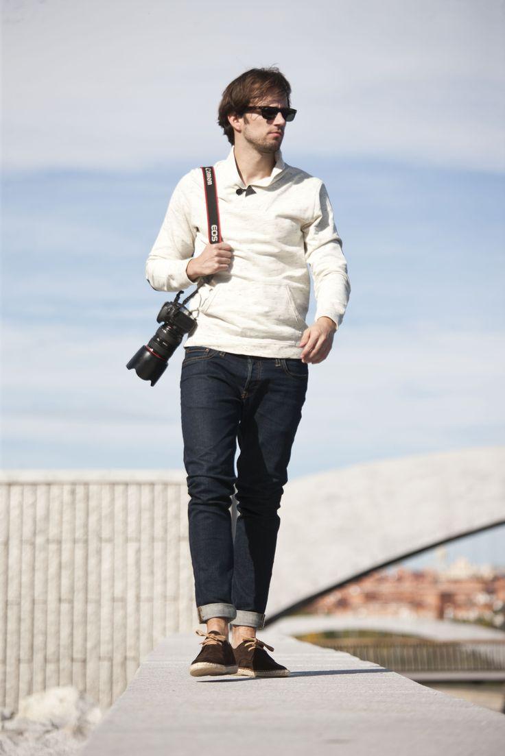 Modelo tipo blucher de alpargata de Abarca Shoes.