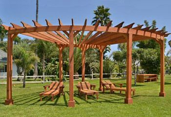 Wood Pergolas and Pavilions, Built to Last Decades | Forever Redwood