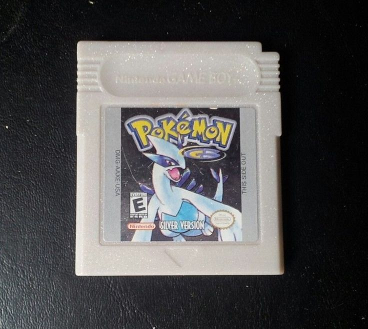 Gameboy Color Game Plays GBC GBA SP POKEMON SILVER Save Works Great RPG Fun