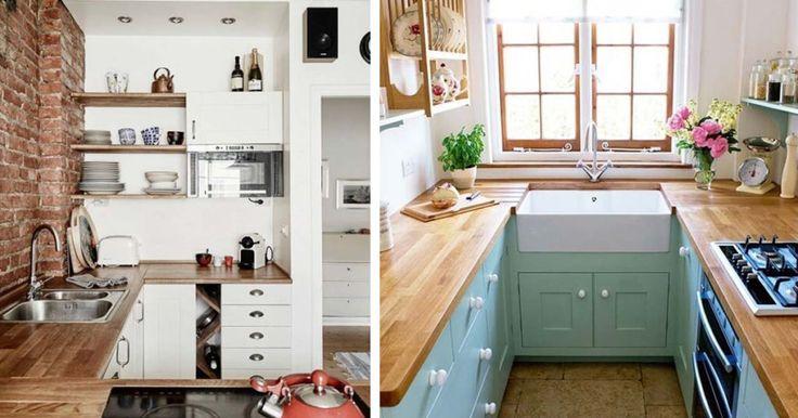 18 nagy ötlet kis konyhák berendezéséhez