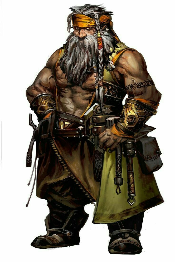 Dwarf Brawler - Pathfinder PFRPG DND D&D d20 fantasy
