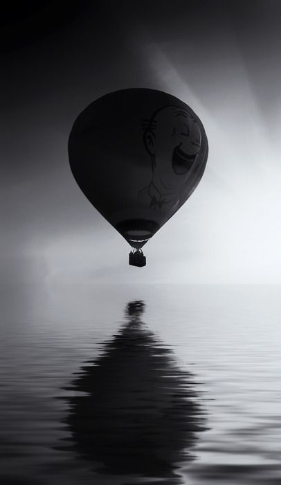 .: Hot Air Balloon, Buckets Lists, Reflection Photography, Photo Black And White, Black White, Hotairballoon, Photography Black, Balloon Reflection, Life Photography