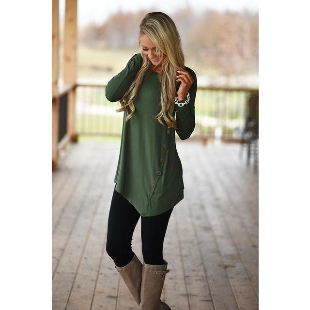 Button Kiss Long T-Shirt – Leila Beeby
