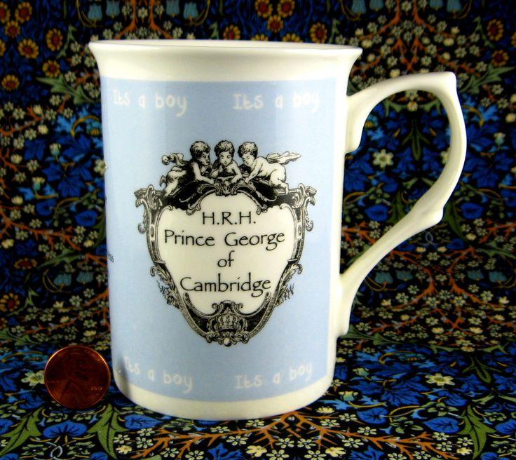 Prince George Birth Mug Adderley William And Kate English 2013 English Bone China