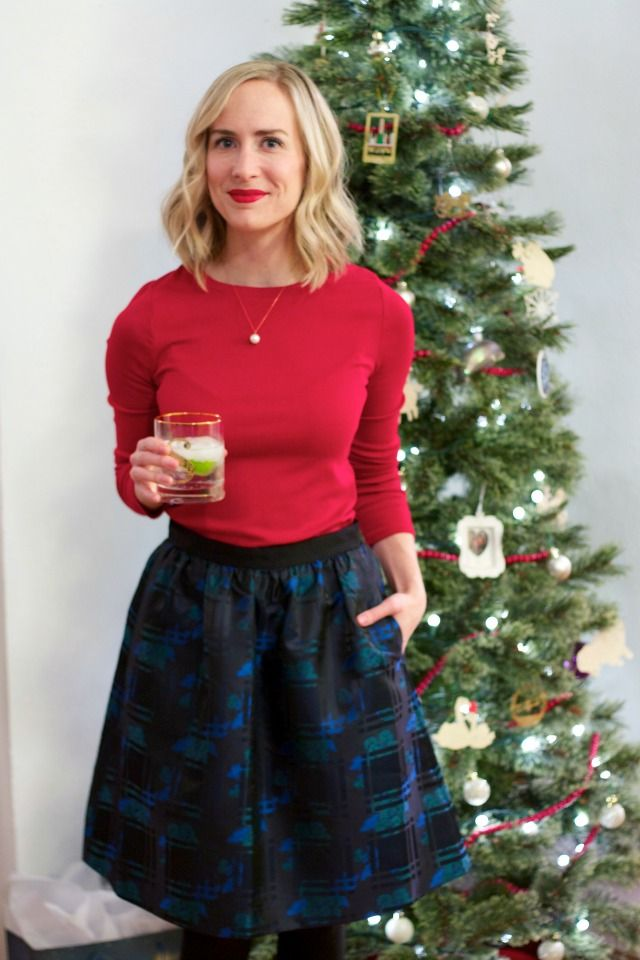 Christmas party outfit, hostess outfit, gold monogram tumblers