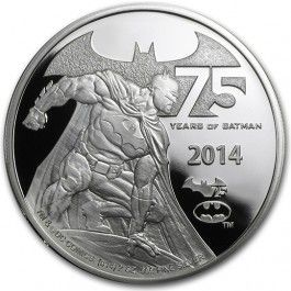 2014 Niue #Batman 75th #Anniversary 2oz #Silver Proof #Coin. #Limited to 7,500 coins On top of a great design and the one-of-a-kind packaging that comes with this coin, the real showstopper is the 3-D experience that uses augmented reality, which is a live view of real-world elements supplemented by computer-generated graphics and sounds.