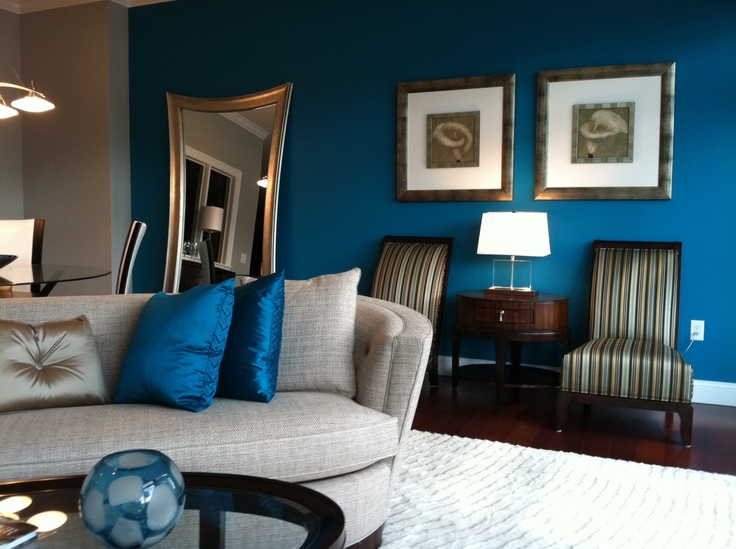 17 best images about blue walls on pinterest - Blue accent walls for living room ...