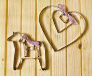 Dala Horse Cookie Cutters - Set of 3