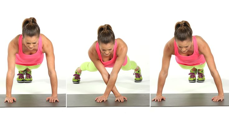 This move will challenge your core and define your deltoids, shaping your shoulders.   Begin in plank posit...