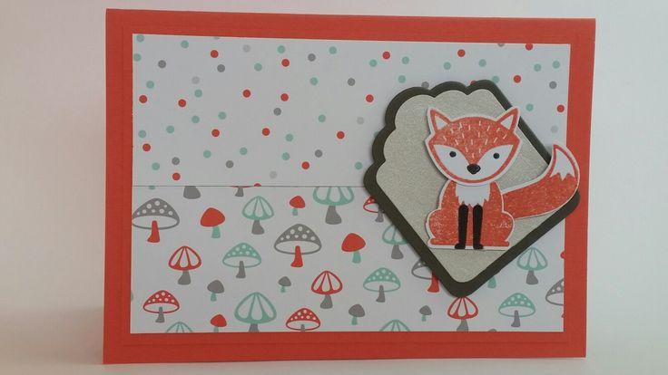 Foxy tag card handmade card