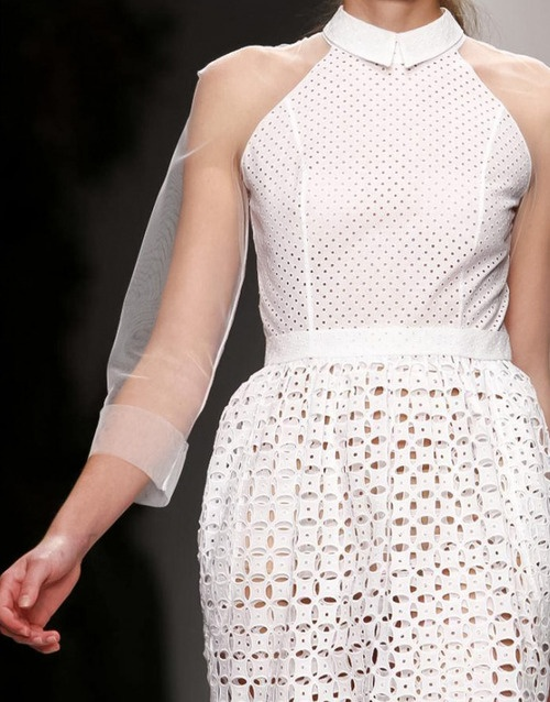 Simone Rocha S/S 2013 Transparency, transparent, clear, fashion, designer, catwalk, design, contemporary, modern