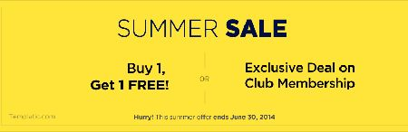 Templatic Summer Sale : Buy 1 Get 1 FREE/Exclusive Deals On Membership   http://www.frip.in/templatic-summer-sale-buy-1-get-1-freeexclusive-deals-on-membership/