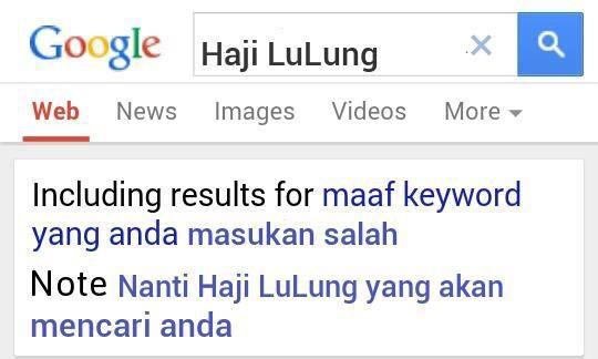 #SaveHajiLulung: Google