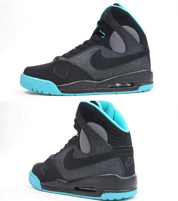 Nike Air PR1 Black/Electric Green High Top Sneaker