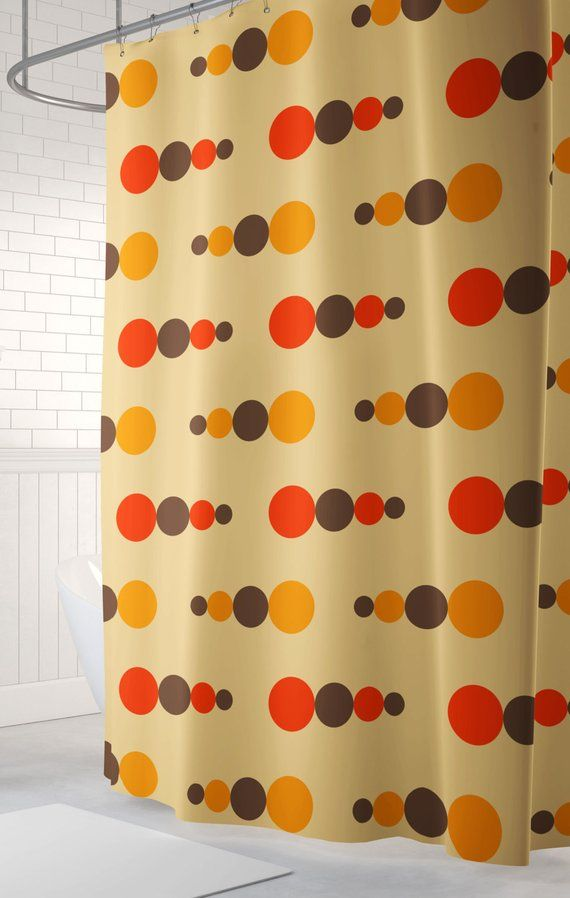 Retro Shower Curtain 70 S Shower Curtain Cool Shower Curtain