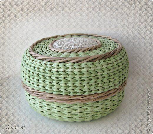 Мастер-класс Плетение: МК - Шкатулка из бумаги. Бумага газетная, Трубочки бумажные. Фото 1