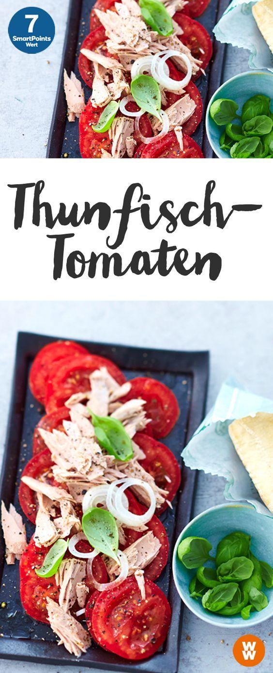 Schnelle Thunfisch-Tomaten   7 SmartPoints/Portion, Weight Watchers, fetig in 5 min.