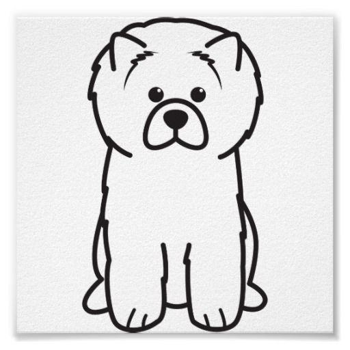 Chow Chow Dog Cartoon Posters