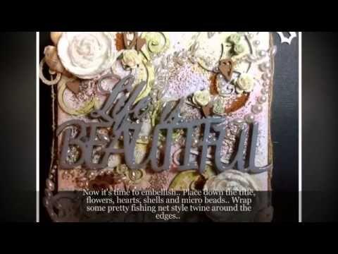 Life Is Beautiful Canvas By Toni Herron - YouTube