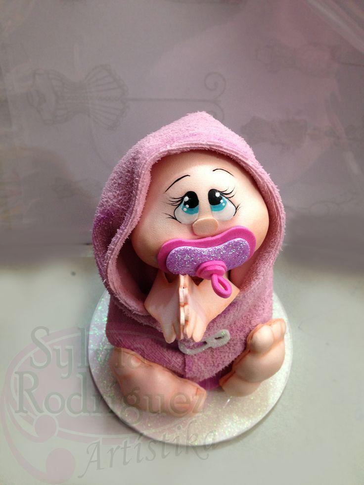 Bebé realizado con la técnica Goma Eva en 3D en los talleres mensuales de los días jueves y viernes.