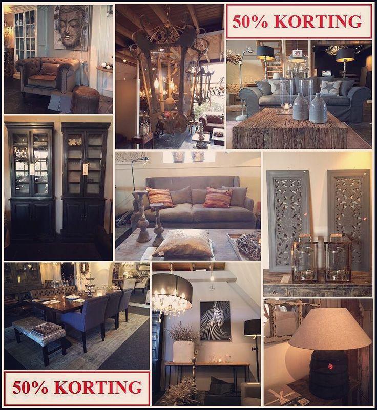 SALE!! 50% KORTING op heeeeel veel showmodellen meubelen, verlichting en decoratie!!  Wees er snel bij! OP=OP  DE CAROLINAHOEVE HOME Beetsterweg 9, Beetsterzwaag  Topmerken, hoge kwaliteit met nu hele lage prijzen!!