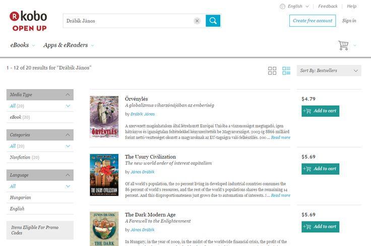 Drábik János Kobo e-könyvei magyarul és angolul - https://store.kobobooks.com/en-us/search?query=Dr%C3%A1bik%20J%C3%A1nos&fcsearchfield=Author