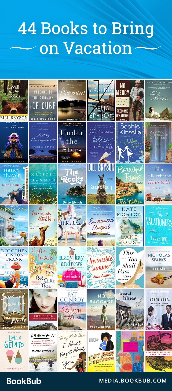 44 Mustread Books To Bring On Vacation From Easy Beach Reads To Funny