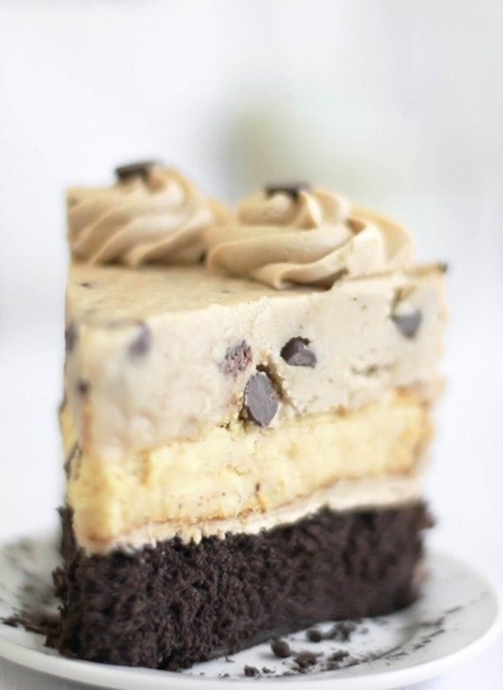 Chocolate chip cookie dough devil's food cheesecake. I just died.