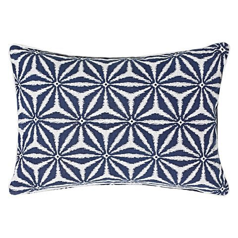 Broadcast bold pattern in your home with the geometric print on the Anise Breakfast Cushion from Rapee.
