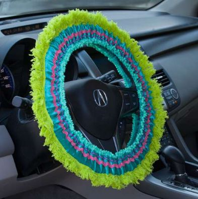 Fringe Steering Wheel Covers - Lily Wings - 1