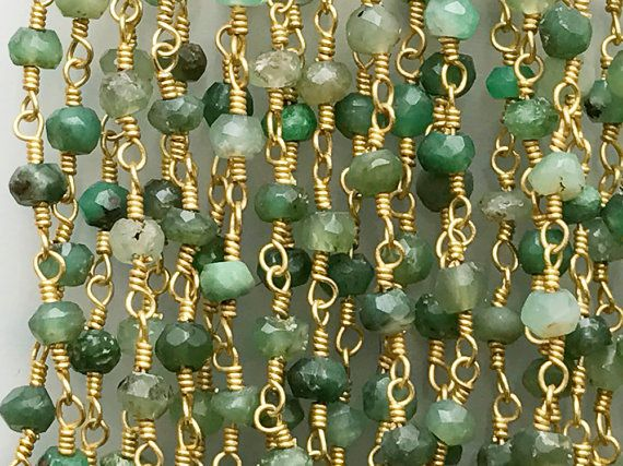 WHOLESALE 5 Feet Chrysoprase Faceted Rondelle by gemsforjewels