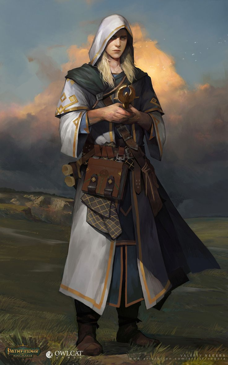 rpg settings : Photo Male character idea concept art cleric healer adventurer