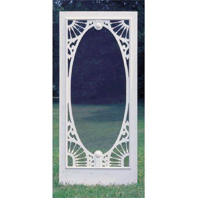 Vintage Aluminum Screen Door