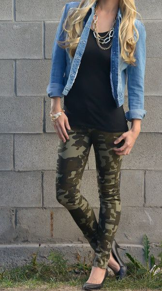 Camo With jean jacket