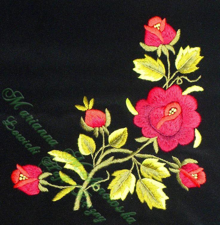 Szale łowickie haftowane - Łowicki Haft Ręczny - Marianna Madanowska // Polish embroidery, Łowicz
