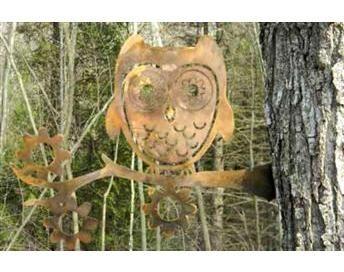 Home Outdoor U0026 Garden Garden U0026 Outdoor Decor Metal Art Garden Owl