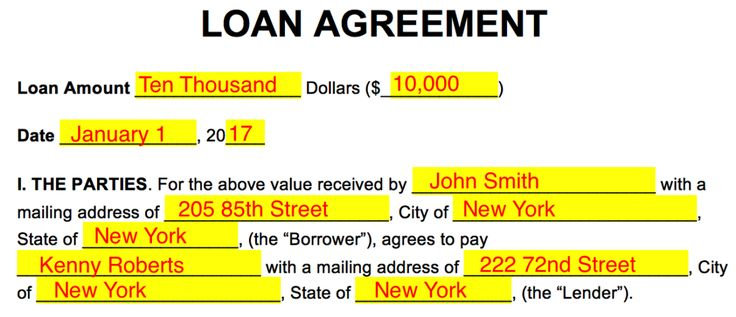 Free Loan Agreement Templates - PDF | Word | eForms – Free Fillable Forms