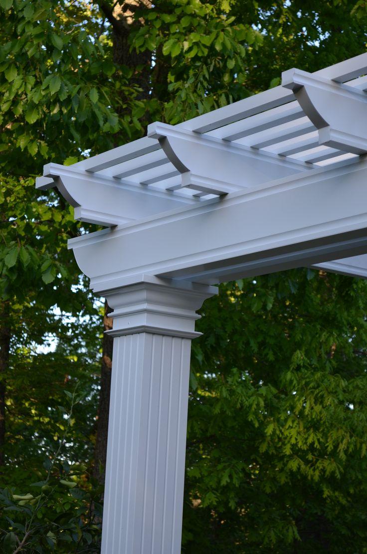 Coolbreeze aluminum pergola detail.