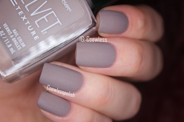 sally hansen - lush. Wearing it now. Different...I think its my new favorite neutral matte.