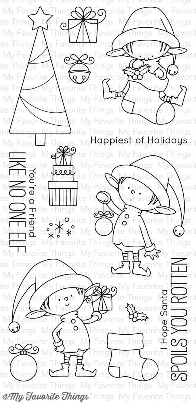 My Favorite Things Clear Stamp - BB Santa's Elves ~ $17.99 at franticstamper.com