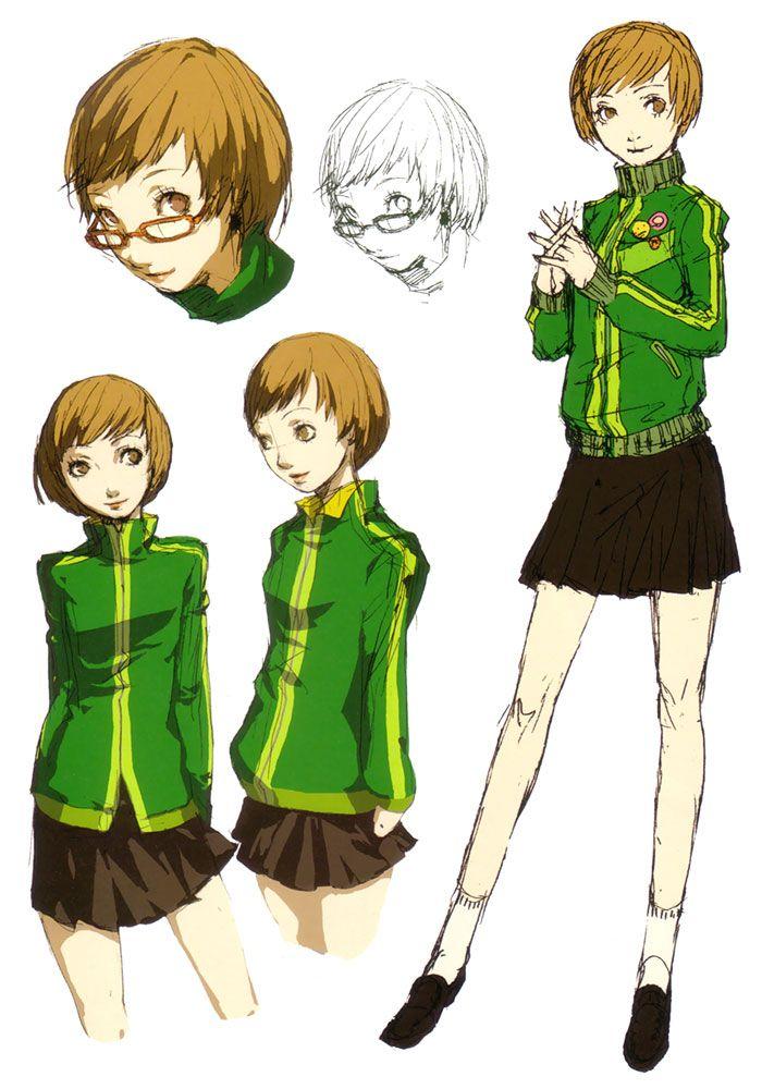Persona 4 Anime Characters : Chie satonaka concepts characters art persona